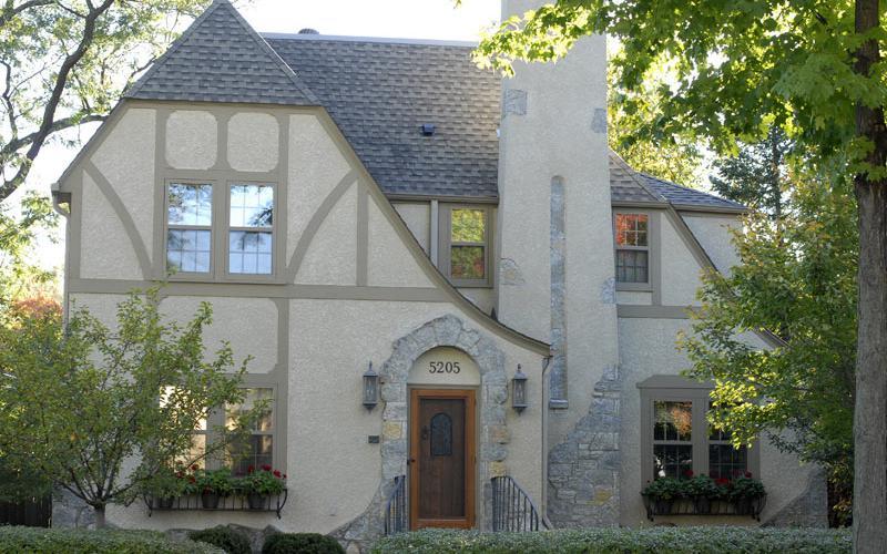 Tudor-style half-timber home